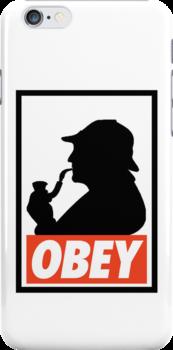 OBEY Sherlock by Royal Bros Art