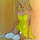 Woman in Yellow Dress by shearart