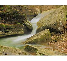 """Weathering Time """"Two Tier Falls""""  Photographic Print"""