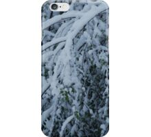 Snow on branches iPhone Case/Skin