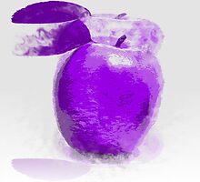 Purple Apple Painting by Nhan Ngo