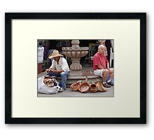 The Trader And The Tourist - El Comerciante Y El Turista Framed Print