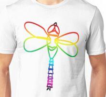 Rainbow Dragonfly Unisex T-Shirt
