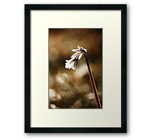 White bell Framed Print