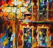 OLD LIGHTS - LEONID AFREMOV by Leonid  Afremov