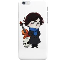 sherlock skull violin iPhone Case/Skin