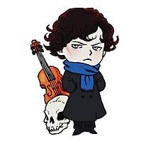 sherlock skull violin Photographic Print