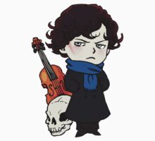 sherlock skull violin One Piece - Short Sleeve
