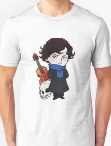 sherlock skull violin T-Shirt