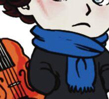 sherlock skull violin Sticker