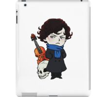 sherlock skull violin iPad Case/Skin