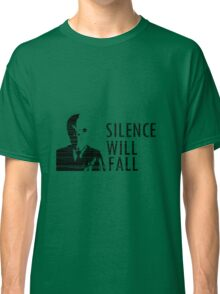 """""""Silence Will Fall"""" - Doctor Who Classic T-Shirt"""