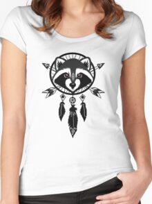 Raccoon Catcher Women's Fitted Scoop T-Shirt