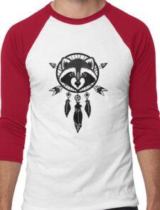 Raccoon Catcher Men's Baseball ¾ T-Shirt