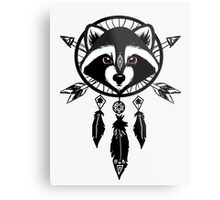 Raccoon Catcher Metal Print