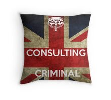 consulting criminal Throw Pillow