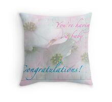 Expecting Baby Congratulations Card Throw Pillow