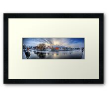 Icy River Panorama Framed Print