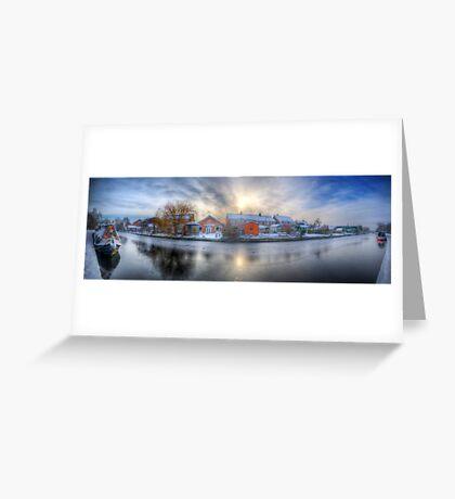Icy River Panorama Greeting Card