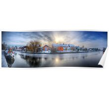 Icy River Panorama Poster