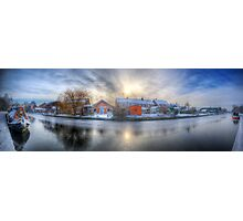 Icy River Panorama Photographic Print