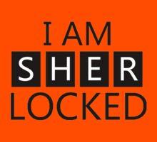 i am sher locked Kids Tee