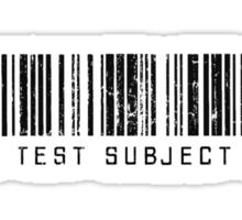 Test Subject Barcode Sticker