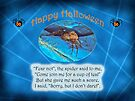 Spider Halloween Card with Original Poem by MotherNature