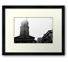 Boston church Framed Print