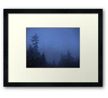 Morning Fog At The Job Framed Print