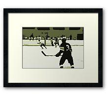 High School Hockey 101 Green - 1 Framed Print