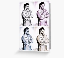 Richard Armitage, Andy Warhol style Greeting Card