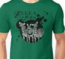 Zebra Crew Splatter for Light Apparel Unisex T-Shirt