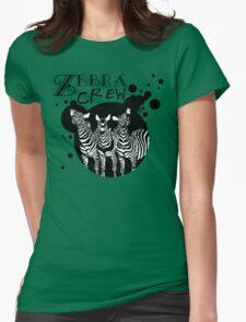 Zebra Crew Splatter for Light Apparel Womens Fitted T-Shirt