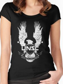 UNSC LOGO HALO 4 - GRUNT DISTRESSED LOOK Women's Fitted Scoop T-Shirt