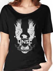 UNSC LOGO HALO 4 - GRUNT DISTRESSED LOOK Women's Relaxed Fit T-Shirt