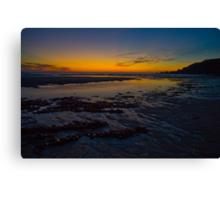 Yellow Low Tide Sundown Canvas Print
