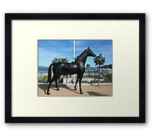 Shergar Is Alive And Well And Living In Cap Ferrat Framed Print
