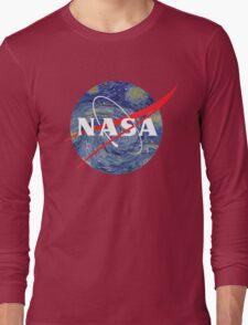 NASA starry night Long Sleeve T-Shirt