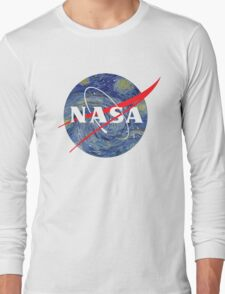 NASA starry night Long Sleeve T-Shirt