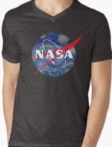 NASA starry night Mens V-Neck T-Shirt