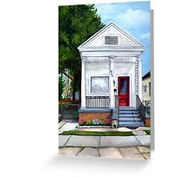 White Shotgun House Greeting Card