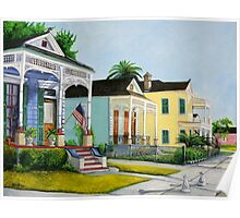 Historic Louisiana Homes Poster