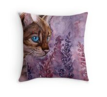Azure Eyes Throw Pillow