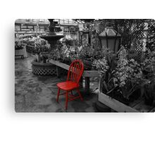 Red Chair Part 2 Canvas Print