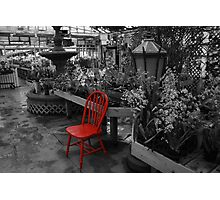 Red Chair Part 2 Photographic Print