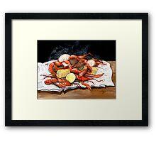 Steamy Crawfish Framed Print