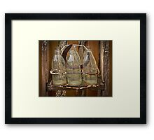 Six Milk Bottles Framed Print