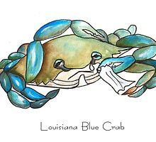 Louisiana Blue Crab by Elaine Hodges