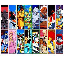 80s Totally Radical Cartoon Spectacular!!! VERSION 2 Photographic Print